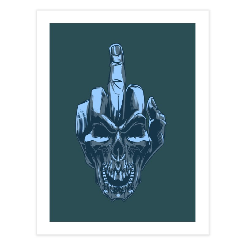 Fuck Skull Home Fine Art Print by fishark's Artist Shop