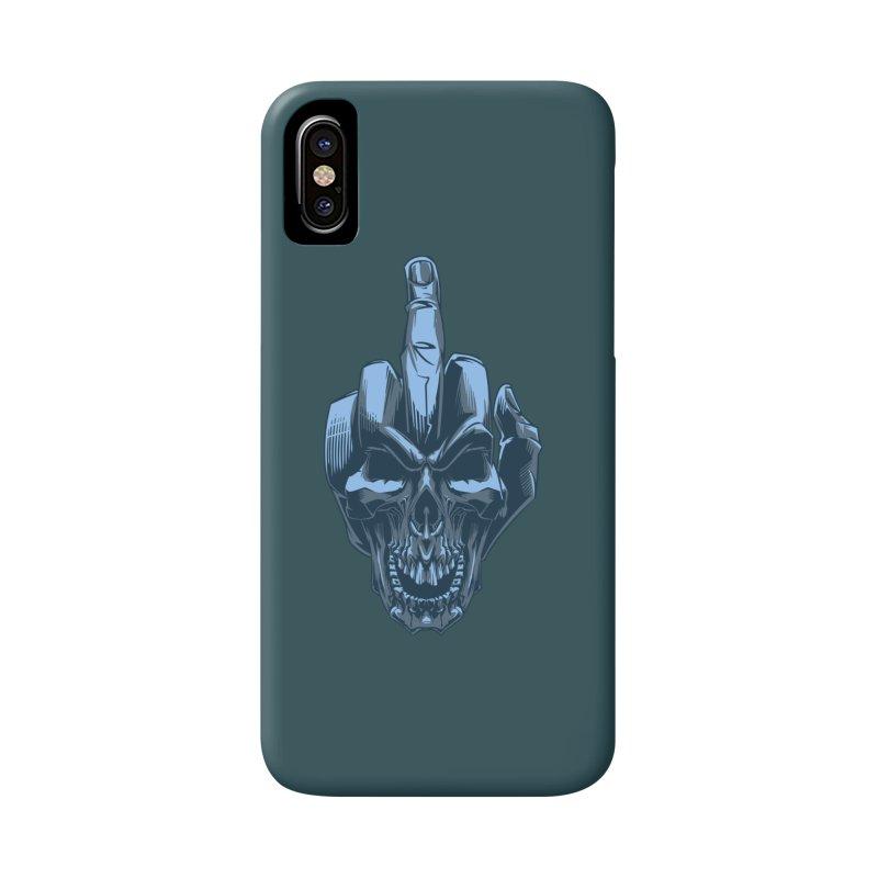 Fuck Skull Accessories Phone Case by fishark's Artist Shop