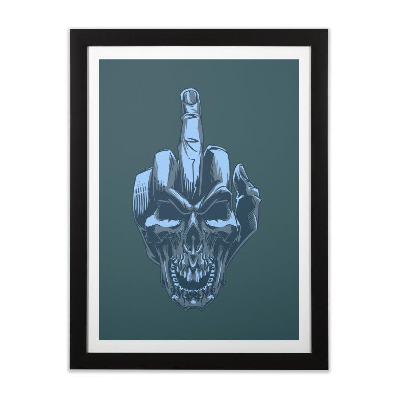 Fuck Skull Home Framed Fine Art Print by fishark's Artist Shop