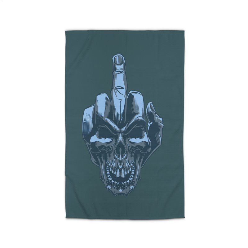 Fuck Skull Home Rug by fishark's Artist Shop