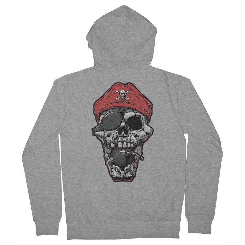 Skull pirate Men's Zip-Up Hoody by fishark's Artist Shop