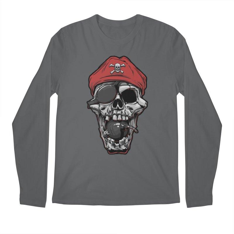 Skull pirate Men's Longsleeve T-Shirt by fishark's Artist Shop