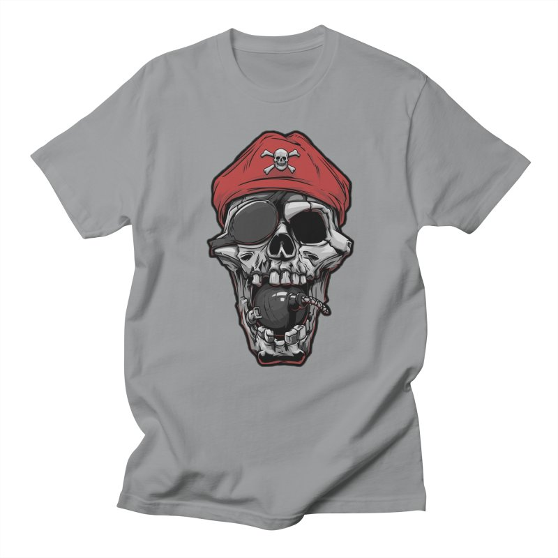 Skull pirate Men's T-shirt by fishark's Artist Shop