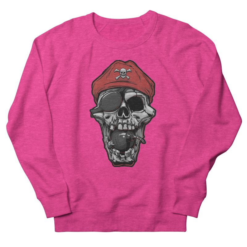 Skull pirate Women's Sweatshirt by fishark's Artist Shop