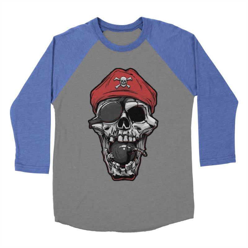 Skull pirate Women's Baseball Triblend T-Shirt by fishark's Artist Shop
