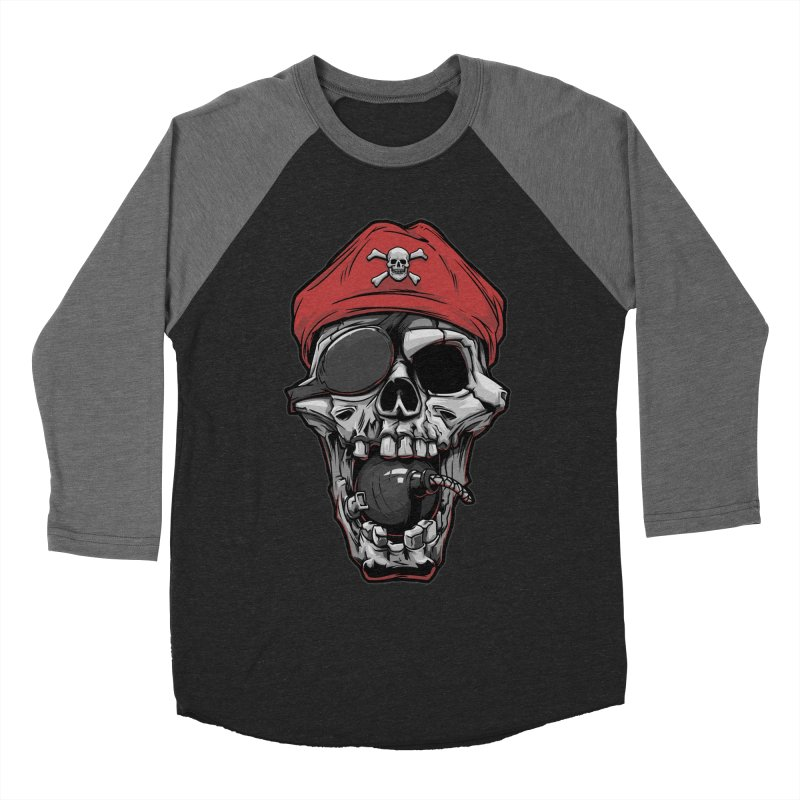 Skull pirate Women's Baseball Triblend T-Shirt by fishark's Artist Shop