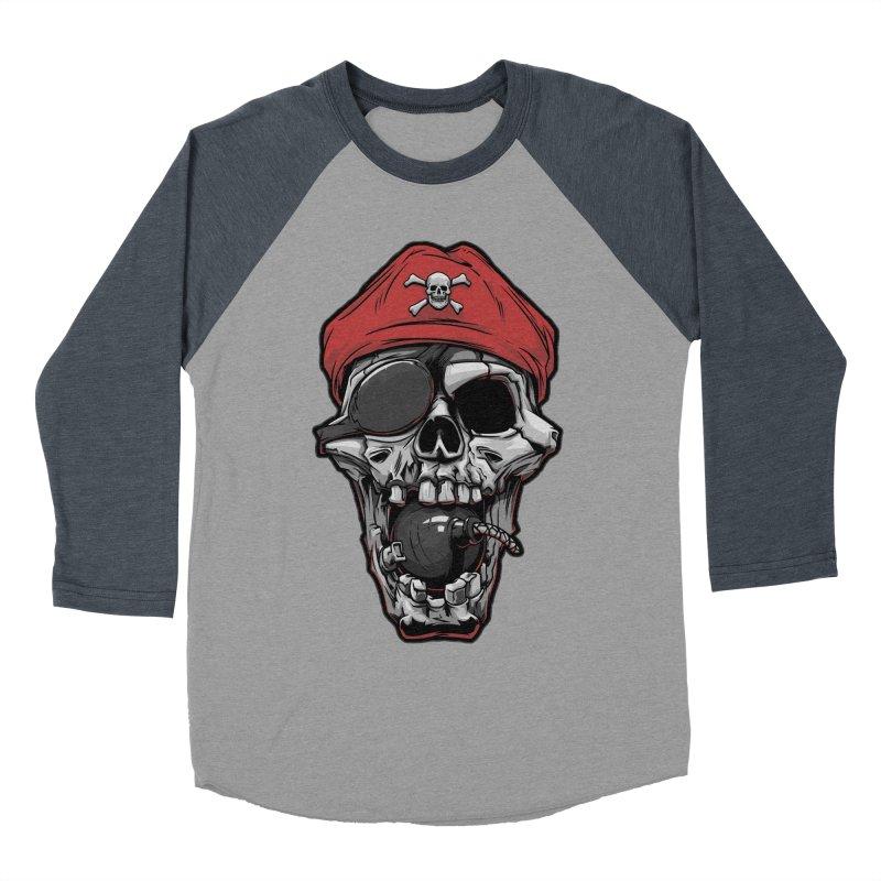 Skull pirate Men's Baseball Triblend T-Shirt by fishark's Artist Shop