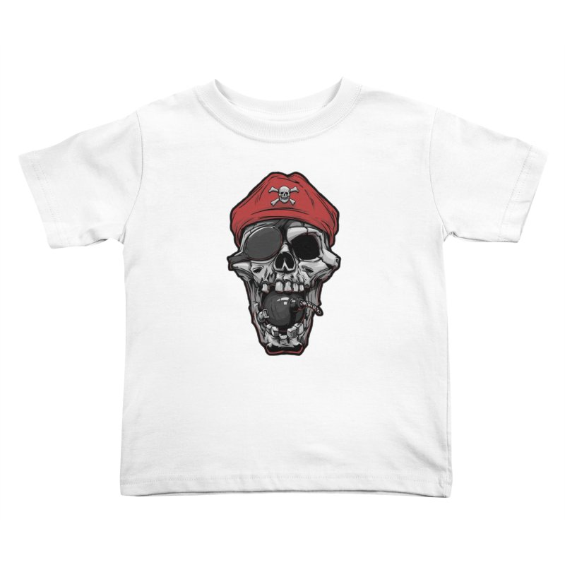 Skull pirate Kids Toddler T-Shirt by fishark's Artist Shop