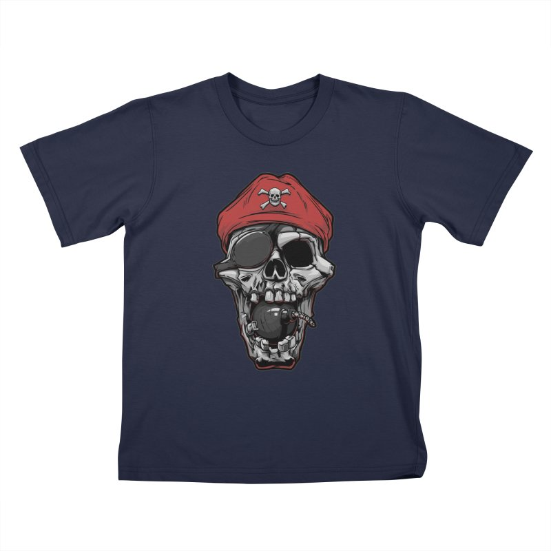 Skull pirate Kids T-Shirt by fishark's Artist Shop