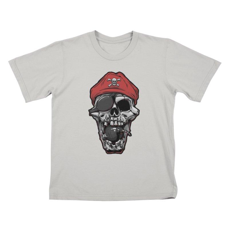 Skull pirate Kids T-shirt by fishark's Artist Shop