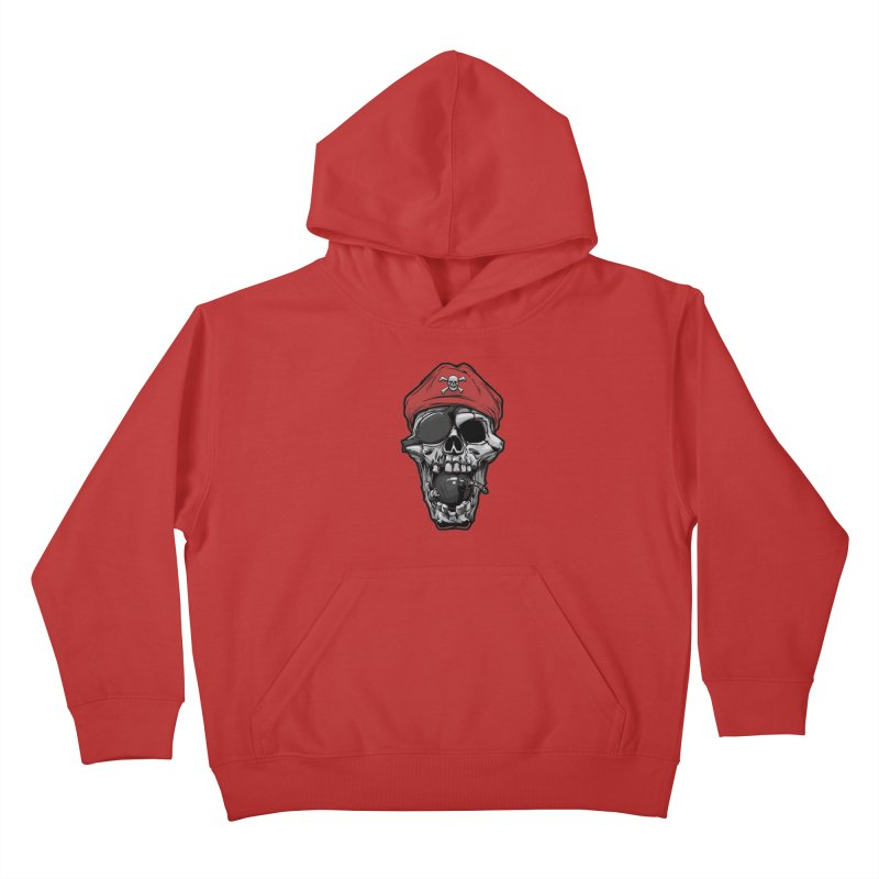 Skull pirate Kids Pullover Hoody by fishark's Artist Shop