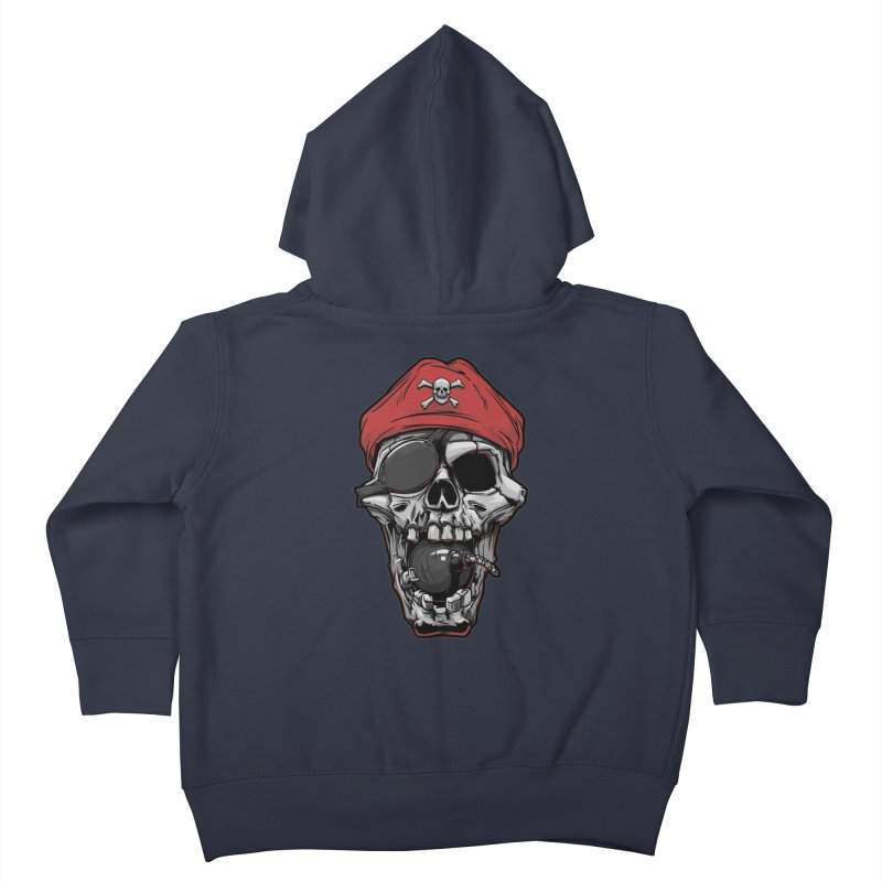 Skull pirate Kids Toddler Zip-Up Hoody by fishark's Artist Shop