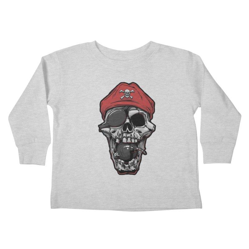 Skull pirate Kids Toddler Longsleeve T-Shirt by fishark's Artist Shop