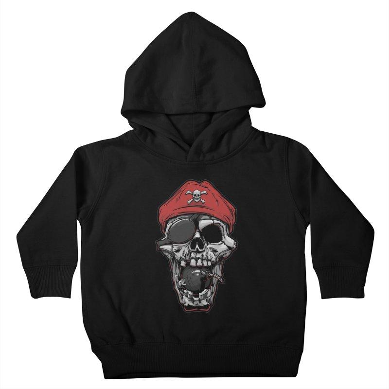Skull pirate Kids Toddler Pullover Hoody by fishark's Artist Shop