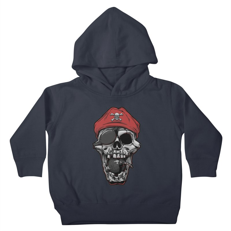 Skull pirate Kids Toddler Pullover Hoody by fishark's Artist Shop