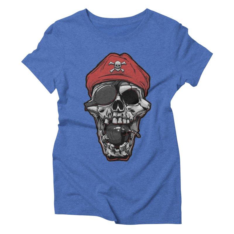 Skull pirate Women's Triblend T-shirt by fishark's Artist Shop