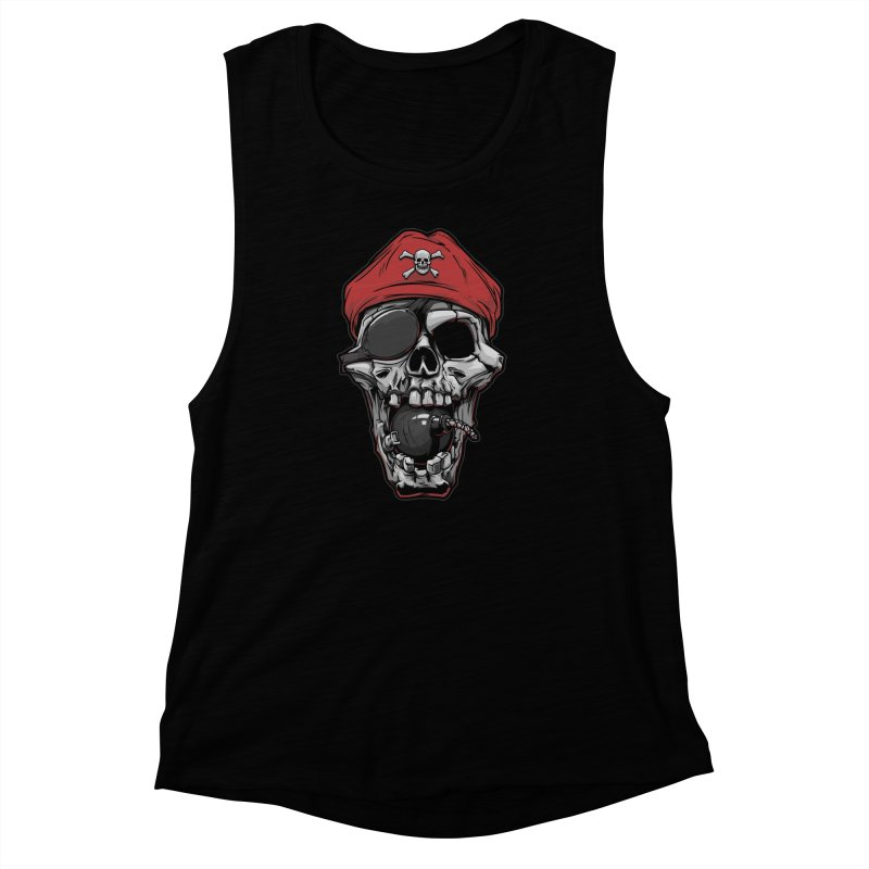 Skull pirate Women's Muscle Tank by fishark's Artist Shop