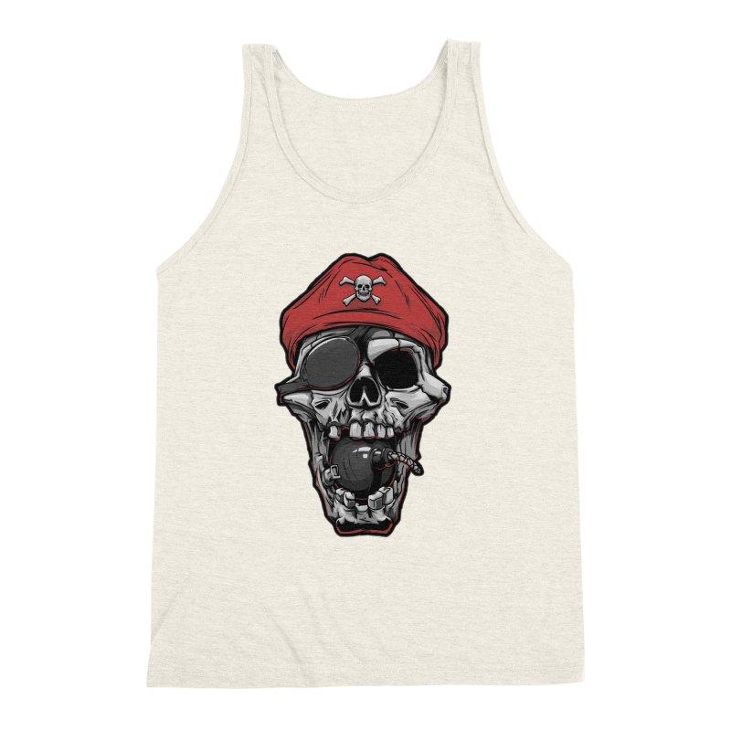 Skull pirate Men's Triblend Tank by fishark's Artist Shop