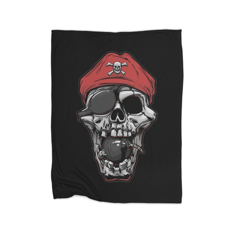 Skull pirate Home Blanket by fishark's Artist Shop