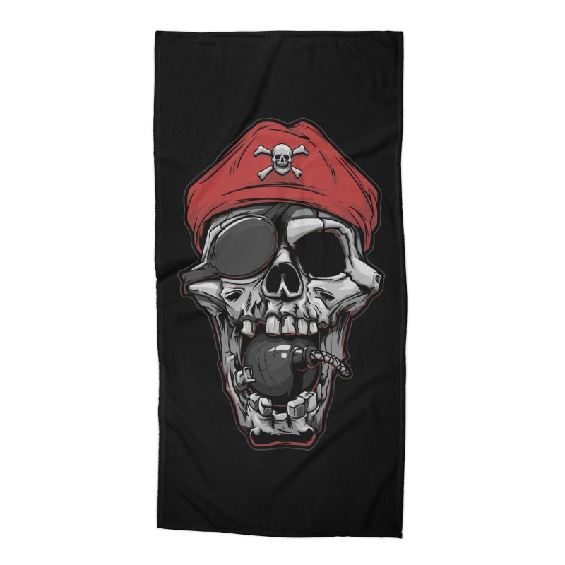 Skull pirate Accessories Beach Towel by fishark's Artist Shop