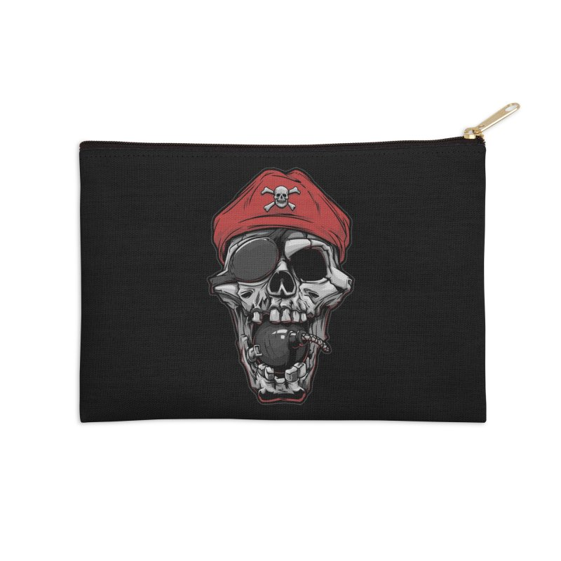Skull pirate Accessories Zip Pouch by fishark's Artist Shop
