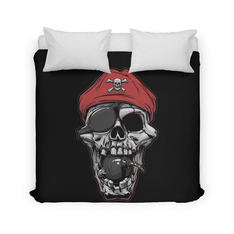 Skull pirate Home Duvet by fishark's Artist Shop