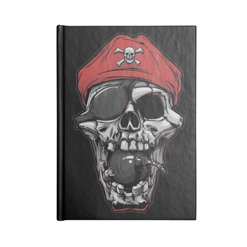 Skull pirate Accessories Notebook by fishark's Artist Shop