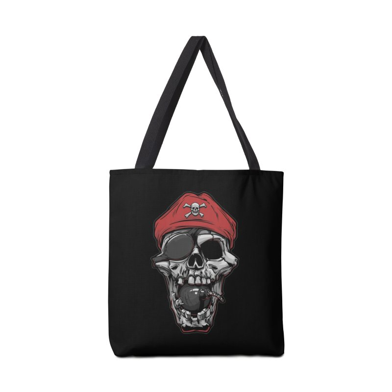 Skull pirate Accessories Bag by fishark's Artist Shop