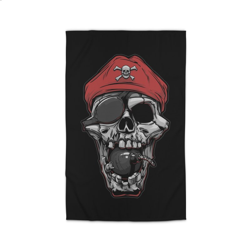 Skull pirate Home Rug by fishark's Artist Shop
