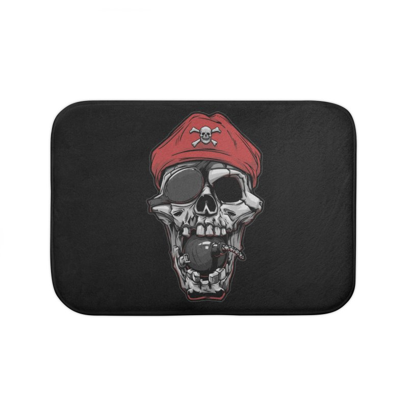 Skull pirate Home Bath Mat by fishark's Artist Shop