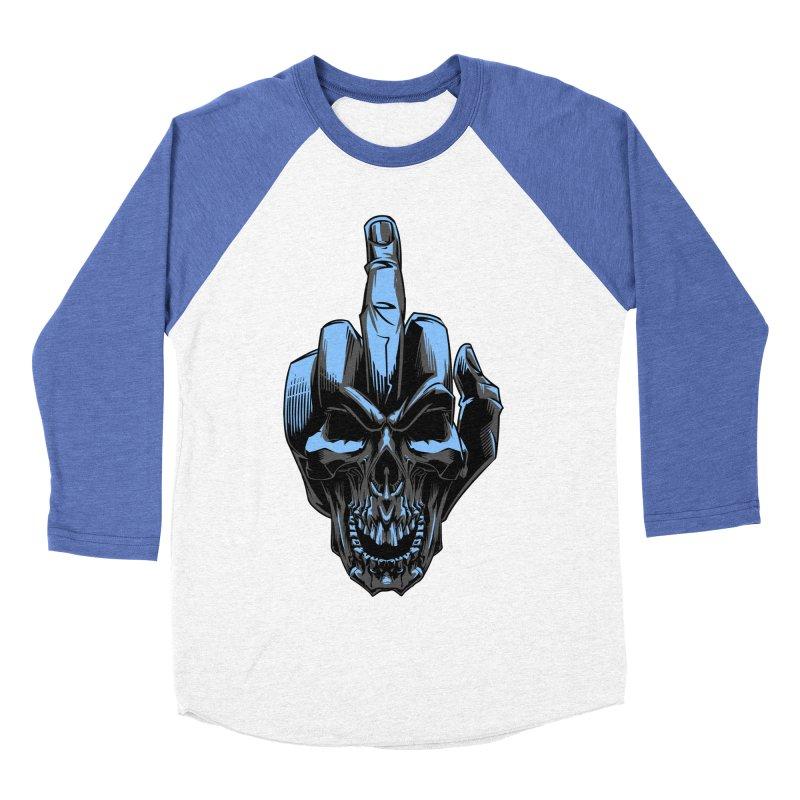 Skull Fuck Men's Baseball Triblend T-Shirt by fishark's Artist Shop