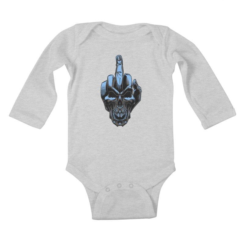Skull Fuck Kids Baby Longsleeve Bodysuit by fishark's Artist Shop