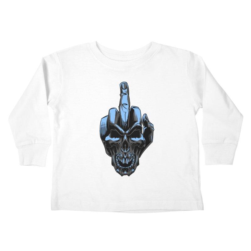 Skull Fuck Kids Toddler Longsleeve T-Shirt by fishark's Artist Shop