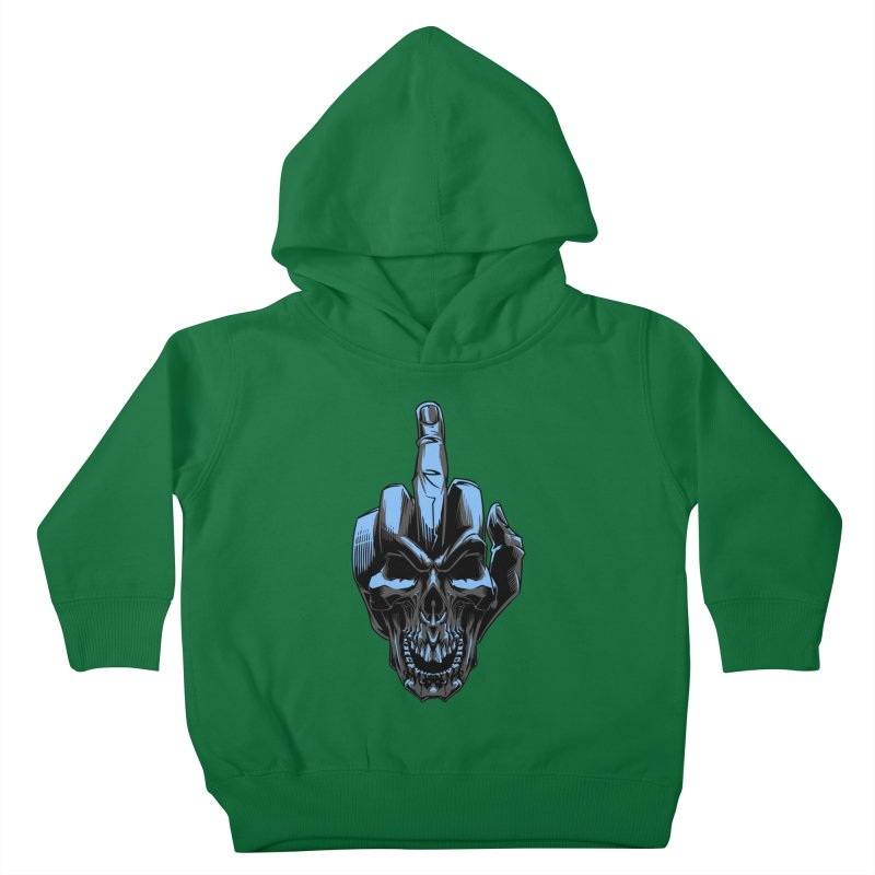 Skull Fuck Kids Toddler Pullover Hoody by fishark's Artist Shop