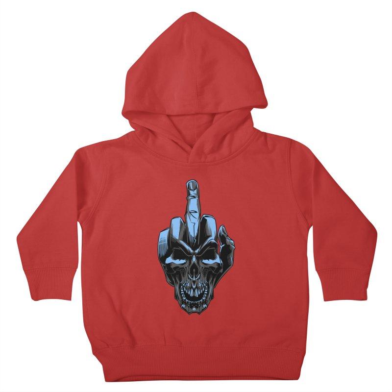 Skull Fuck Kids Toddler Pullover Hoody by fishark's Artist Shop