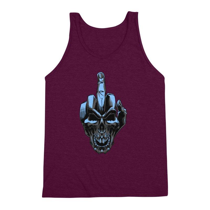 Skull Fuck Men's Triblend Tank by fishark's Artist Shop