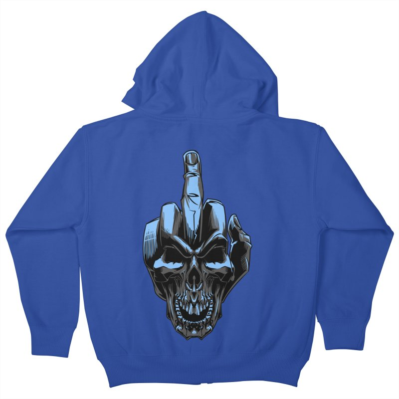 Skull Fuck Kids Zip-Up Hoody by fishark's Artist Shop