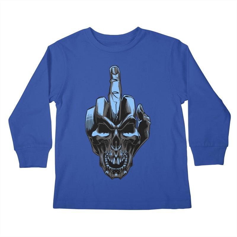 Skull Fuck Kids Longsleeve T-Shirt by fishark's Artist Shop