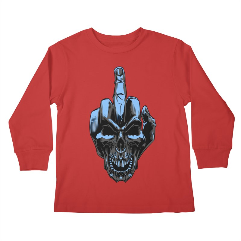 Skull Fuck Kids Longsleeve T-Shirt by fishark's Artist Shop