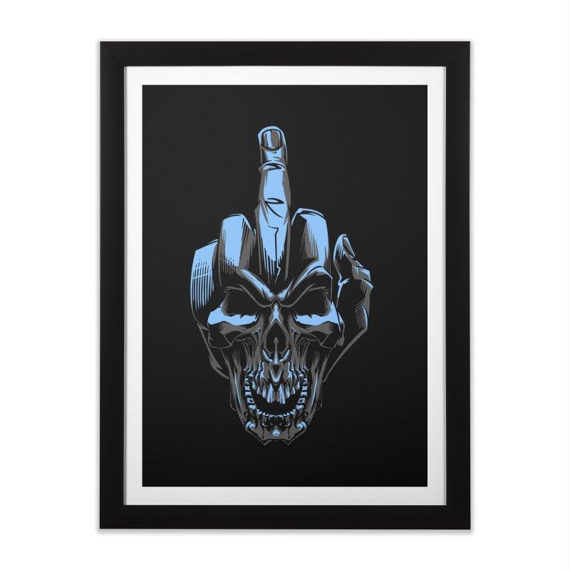 Skull Fuck Home Framed Fine Art Print by fishark's Artist Shop