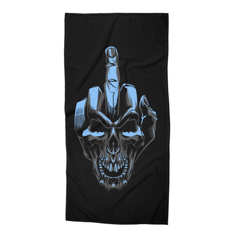 Skull Fuck Accessories Beach Towel by fishark's Artist Shop