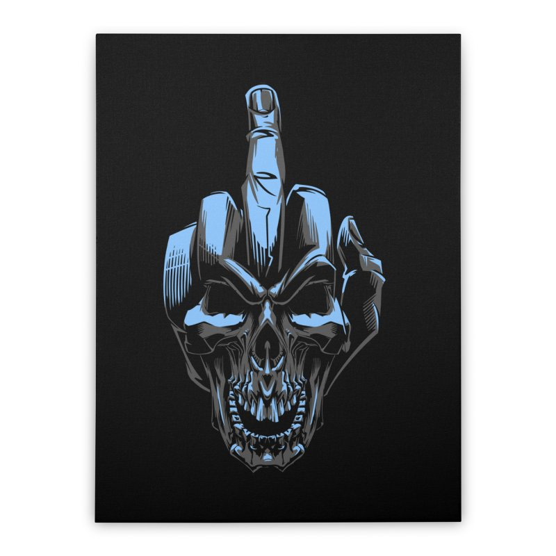 Skull Fuck Home Stretched Canvas by fishark's Artist Shop