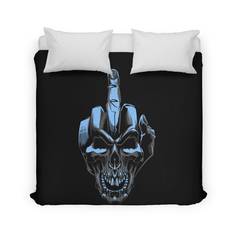 Skull Fuck Home Duvet by fishark's Artist Shop