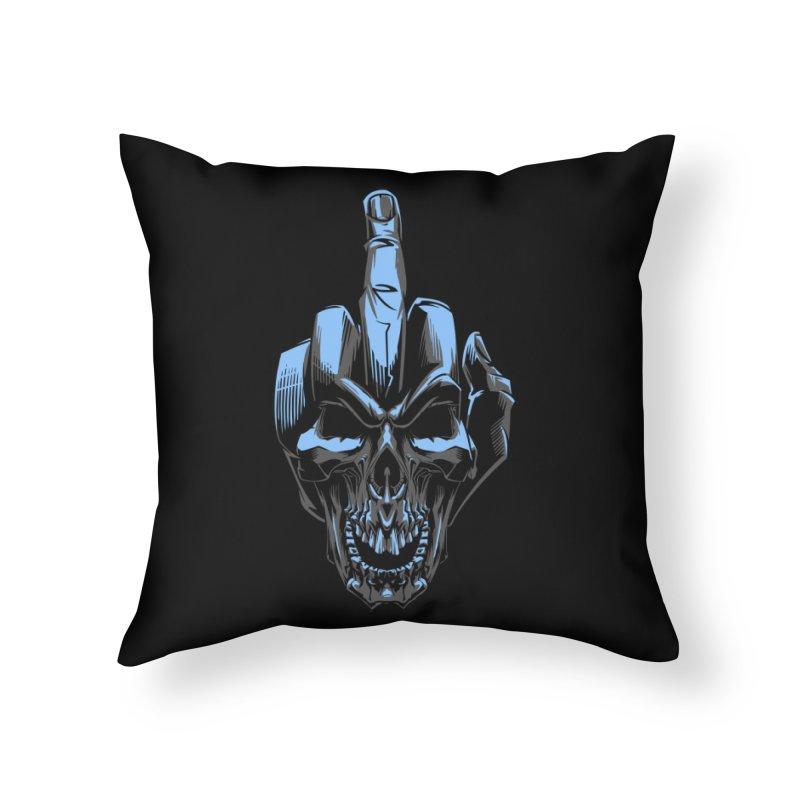 Skull Fuck Home Throw Pillow by fishark's Artist Shop