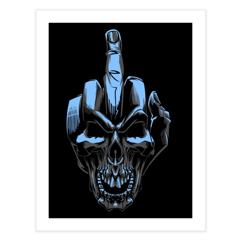 Skull Fuck Home Fine Art Print by fishark's Artist Shop