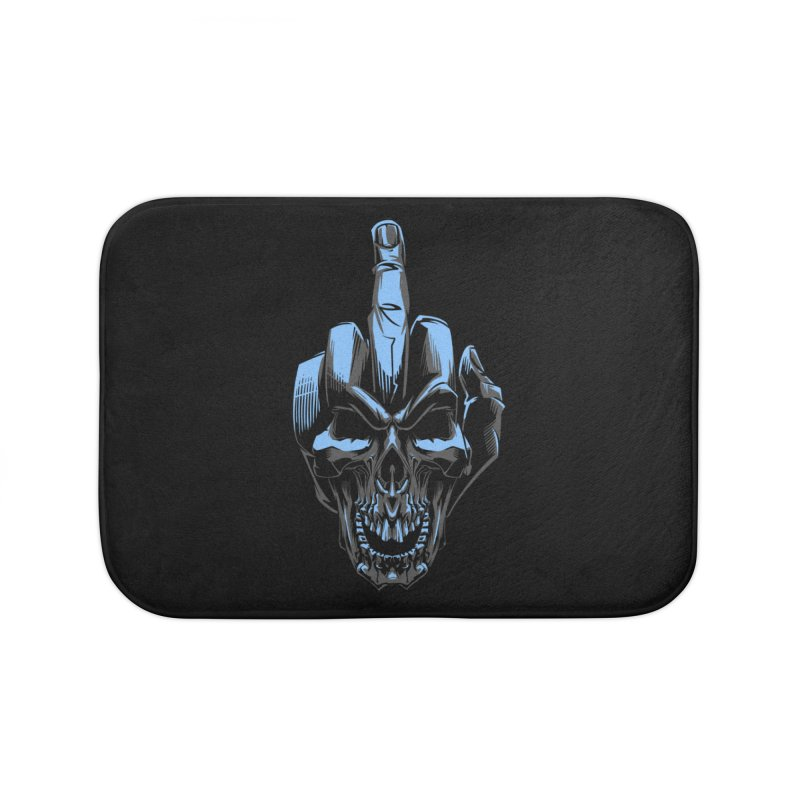 Skull Fuck Home Bath Mat by fishark's Artist Shop