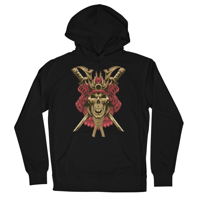 skull samurai Women's Pullover Hoody by fishark's Artist Shop