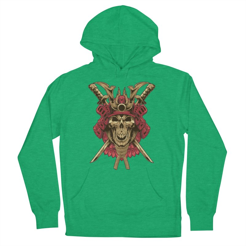 skull samurai Men's Pullover Hoody by fishark's Artist Shop