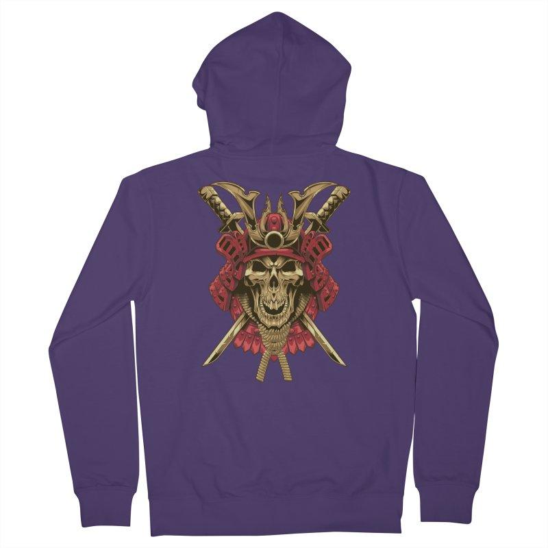 skull samurai Women's Zip-Up Hoody by fishark's Artist Shop