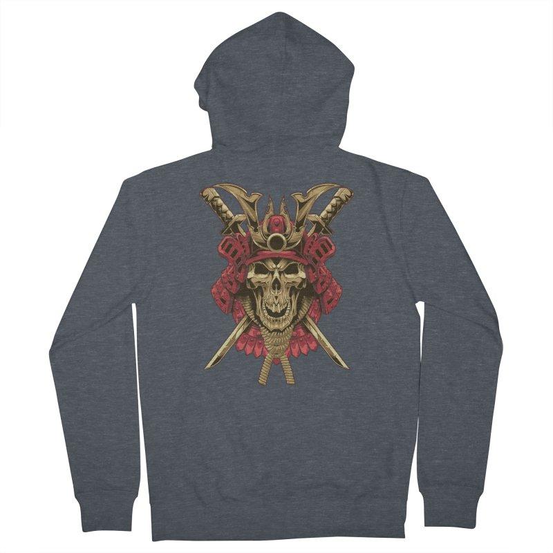 skull samurai Men's Zip-Up Hoody by fishark's Artist Shop